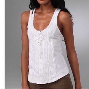 Free People Lace Tie Up Tank